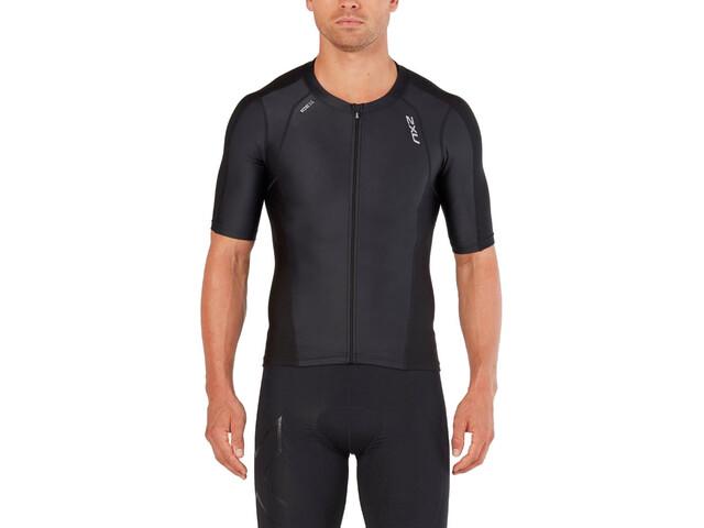 2XU Compression Sleeved Tri Top Herren black/black